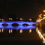 A wonderful image of Bedford Town Bridge at night. Souls Coaches the best choice for Coach Hire Bedford
