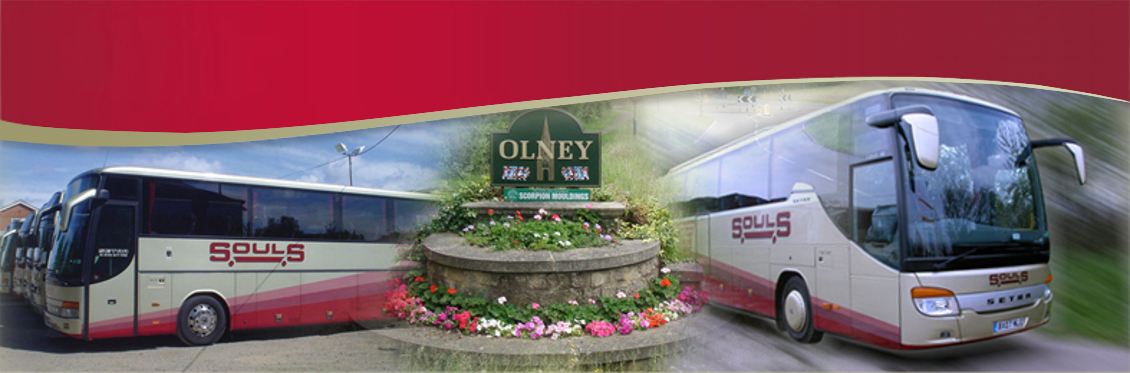 Souls Coaches are based in Olney and proudly serve Milton Keynes, Bedfordshire, Northamptonshire and Buckinghamshire